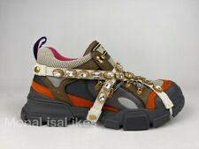 New GUCCI $1725 Flashtrek Crystal Jewel Embellished Hiking Sneakers Boots Shoes