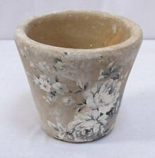 Terracotta Pot, Planter With Roses Motif, Irdener Pot IN Retro Style 12 CM