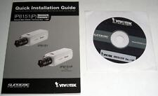 Installation Guide and Cd for Vivotek Ip8151 (P) Network Camera