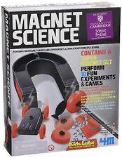 4 M Kit SCIENZA magnete per bambini 10 GIOCHI ED ESPERIMENTI Kit Set Scatola Regalo Nuova