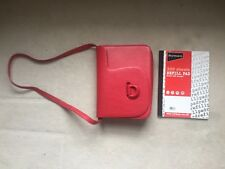 Raoul red leather bag with adjustable straps (shoulder or crossbody bag)