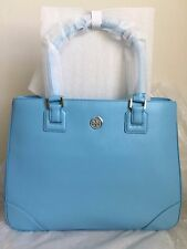 NWT AUTHENTIC TORY BURCH Robinson Saffiano Leather Tote Bag Morning Sky $575
