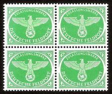 DR Nazi 3rd Reich Rare WW2 WWII W2 Stamp Swastka Feldpost Official Service Eagle