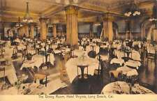 Long Beach California Hotel Virginia Dining Room Antique Postcard K38406