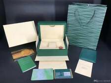 Rolex Watch Box Geneve Suisse Wooden Green Wave Watch Duster & Paperwork Wallet