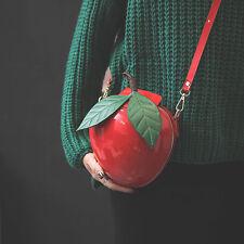 Fashion Fruit Apple 3D Shaped Clutch Tote Bags Girls popular Lovely Handbag