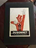 Vintage Quinquina Dubonnet Advertising Wine Bar Art Print Poster Matted 14X20