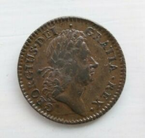 1723 1/2P HALFPENNY HIBERNIA COLONIAL COIN Excellent Condition