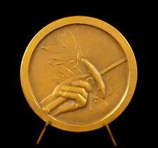 Médaille Escrime fencing fleuret épée sport 47 g 49 mm c 1950 medal