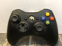 Black Microsoft Xbox 360 Wireless Gaming Controller Black Model 1403 TESTED