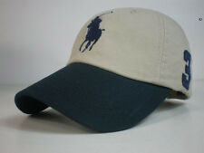 Leather strap Fine Embroidery Big Pony Polo Baseball Cap Men Outdoor Sports Hat
