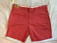 "Rountree & Yorke Casuals Mens Shorts Sz 46 Big Red Flat Front 9"" Inseam Relaxed"