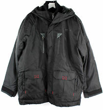 Rocawear Mens 1140R Progressors Advance Comfort Wear Black Hooded Winter Jacket