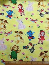 "Corduroy C 1171 TT BTYx44"" Trikes, Bears, Planes, Doll cotton sew quilt fabric"