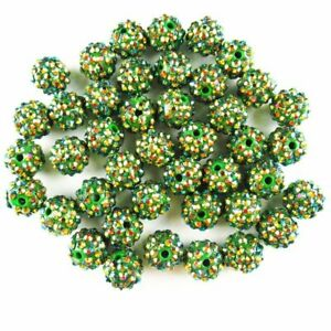 10Pcs 8g Faceted Cyan Titanium Crystal Ball Pendant Bead JZ10