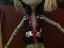 MONSTER HIGH MEOWLODY BLACK/SILVER/RED VEST - LOW SHIPPING