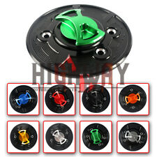 Universal CNC Keyless Gas Fuel Tank Cap Cover For BMW HP2 Sport 07-10 HP4 12-15
