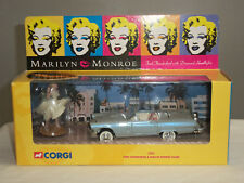 CORGI 39902 MARILYN MONROE SILVER FORD THUNDERBIRD DIECAST MODEL CAR + FIGURE