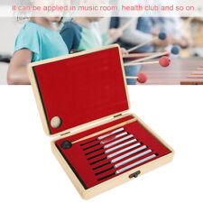 8 Frequency Tuning Fork Chakra Heal Sound Vibration Therapy Set Aluminium Alloy