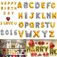 """16""""/40"""" Foil Letter Number Balloons Birthday Courtship Wedding Party Decoration"""