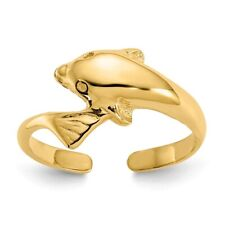 Toe Ring 1.22 gr Genuine 14k Yellow Gold Dolphin