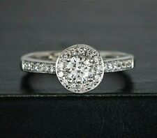 Helzberg Diamond Masterpiece HDS 18K White Gold diamond Halo Engagement Ring 6