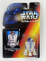Star Wars R2-D2 Action Figure Power of the Force POTF Kenner 1995 Ripped Card
