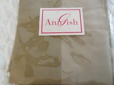 Ann Gish Luxurious SILK SHANTUNG Napkins Set/4 BEIGES Beautiful! NEW