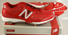 New in Box New Balance MB4040AR Baseball Metal Spike Cleats RED Mens US 16 2E