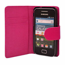 NEW PU FLIP LEATHER WALLET CASE COVER FOR SAMSUNG GALAXY ACE S5830