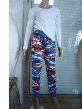 2abfb6044a1d1 PANTALON JEGGING J- STAR CAMOUFLAGE BLEU ORANGE  BLANC + TOP BLANC T 36
