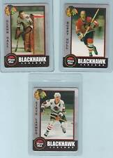 Pizza Hut 1998 Blackhawks card: BOBBY HULL Glenn Hall AND Larmer all three cards