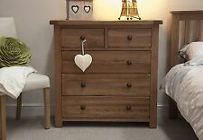 Brooklyn Solid Oak Bedroom Furniture 2 Over 3 Chest of Drawers