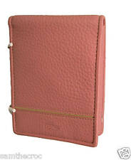 New Authentic LACOSTE  Unisex  WALLET Leather Palio 20 Pink