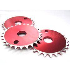 "BICICLETTA BMX BICICLETTA CNC PARACATENA chainwheel Rosso 25 T X 1/8"" CHAIN RING 25 DENTI"