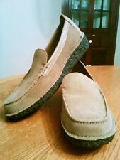 Vintage Land's End Suede Leather Moccasins Made in Brazil, Women's 6.5M NICE!