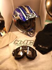 #1 of 2, HJC CL-X4 LARGE MOTORCYCLE HELMET, THOR NX GOGGLES, POLARIS NECK SLEEVE