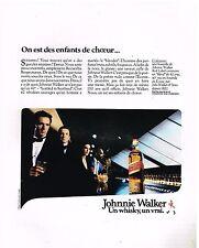 Publicité Advertising 1986 Scotch Whisky Johnnie Walker