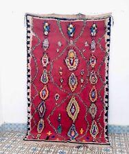 Tappeto di azilal 7' 5 x 4' 5 Marocchino Tappeto fatto a mano Autentico Lana Tappeto la merce ourain
