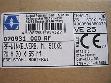 Winkelverbinder Winkel mit Wulst Edelstahl V4A  70x70x55 20St 1St=2,80