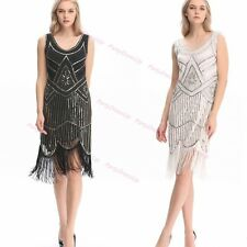 1920s Flapper Dress Charleston Great Gatsby Costume Sequin Party Fancy Dress