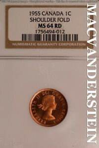 Graded ICCS MS-64 RED Canada Penny 1955