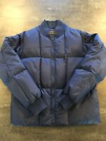 Vtg Brooks Brothers Men's Navy Down Puffer Jacket Vest Large Detachable Sleeves