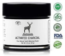 Blackwoods Charcoal Teeth Whitening | Black Carbon Activated Charcoal Powder by