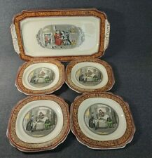 ADAMS TUNSTALL ENGLAND Pickwick Papers Mary and The Fat Boy-plates