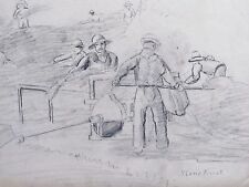 PIETER TROOST - 19TH. C. ORIGINAL DUTCH DRAWING  - FREE SHIP IN THE US !!!