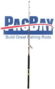 Xcaliber Marine Tournament Series 30-80lb Saltwater Trolling Rod red and gold