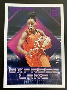 Jasmine Thomas Express Lane Purple Press Proof /99 2019 Donruss WNBA Sun