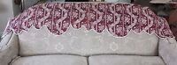 """Antique French HandBlocked 18thC Toile deJouy Quilted Valance~13 1/2""""L X 73""""W"""
