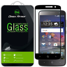 2x Dmax Armor for ZTE Zmax One Tempered Glass Full Cover Screen Protector
